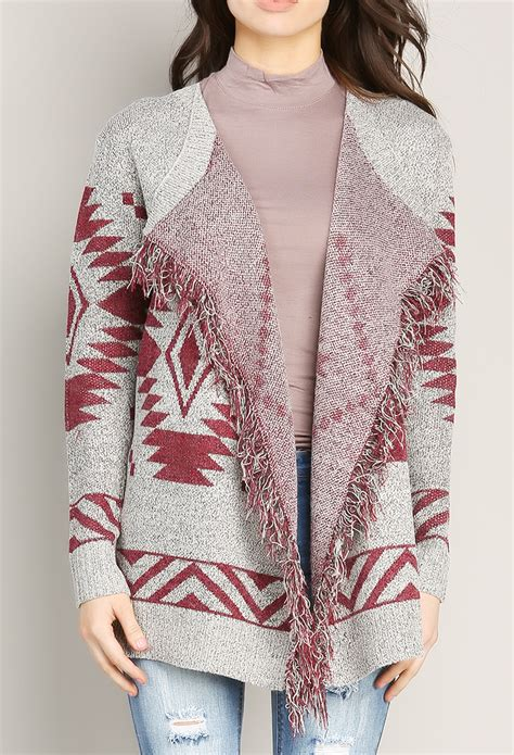 Aztec Pattern Knit Sweater | aztec pattern knit cardigan shop sweaters cardigans at
