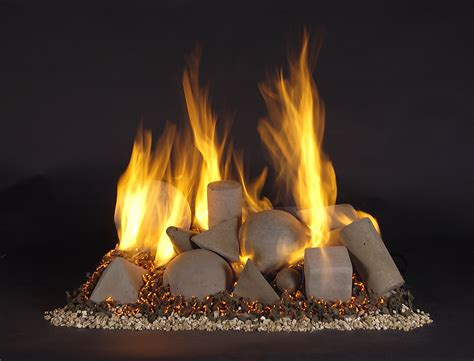 Alternative gas log fireplaces   Fireplace with no logs