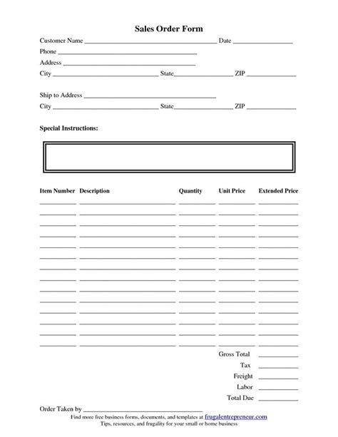product order form template free 40 best images about order form on template