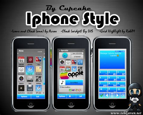 nokia themes iphone style iphone style by cupcake symbian 3 maxicep