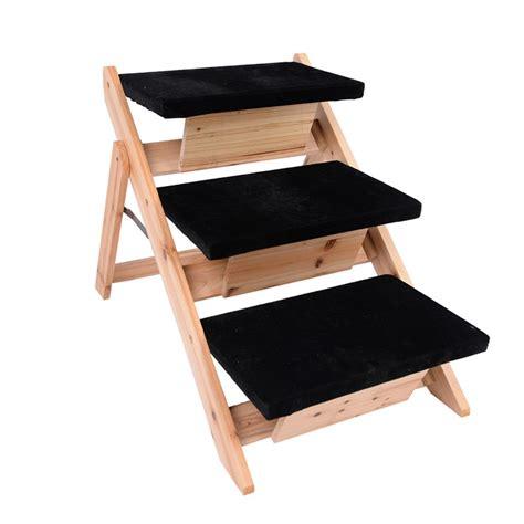 dog ladder for bed pet ladder dog stairs steps r wooden cat animal bed