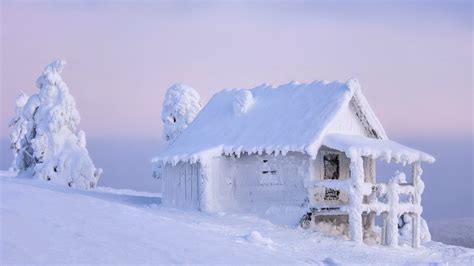 house snow snowy 4k ultra hd wallpaper and background 3840x2160 id 598109