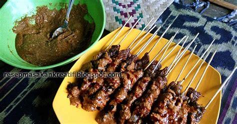 resep sate kambing madura bakar empuk bumbu kacang aneka