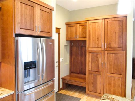 cabinet appliances with brown stained wooden hickory calico hickory cabinets with brown sugar stain and golden