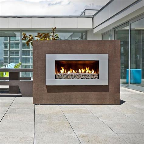 escea ef5000 outdoor natural gas fireplace stainless