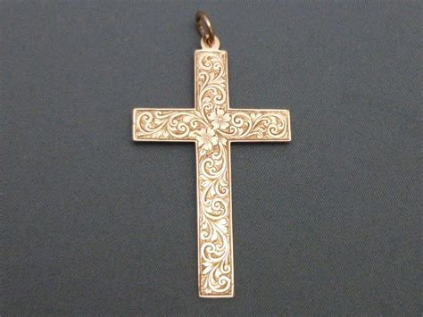 Gold Cross Large 9ct Gold Cross 266230 Sellingantiques Co Uk