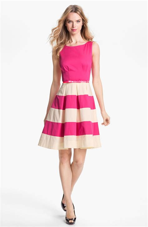 Kate Spade Kate Spade New York Celina Stretch Cotton Fit Flare Dress For Xeuee