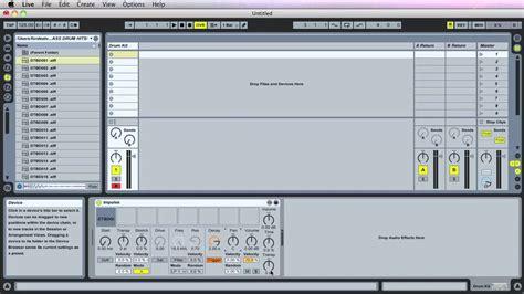 tutorial drum programming 001a ableton live tutorial impulse drum programming part
