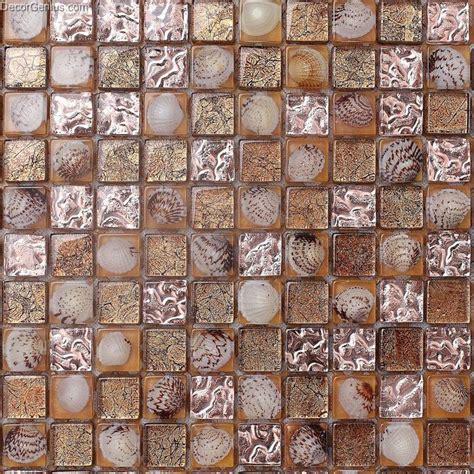 resin bathroom floor brown 3d shell resin mosaic tile dgsm005 bathroom floor