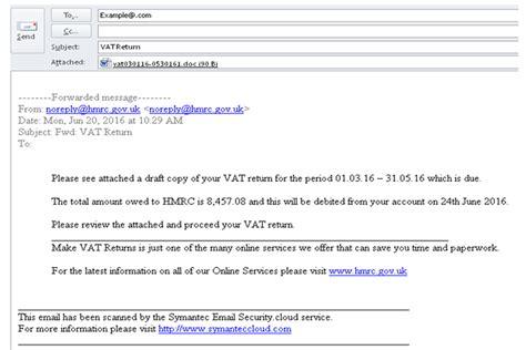 phishing emails bogus contact hm revenue customs