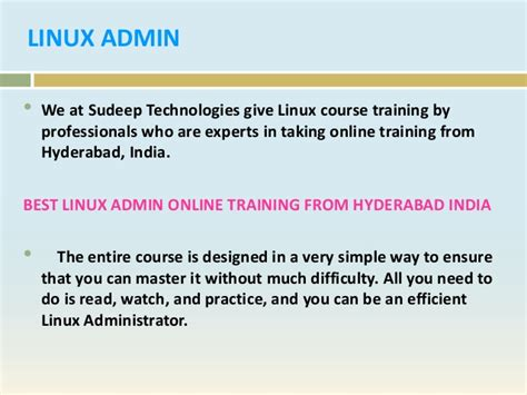 linux tutorial in hyderabad best linux admin online training in hyderabad india usa uk
