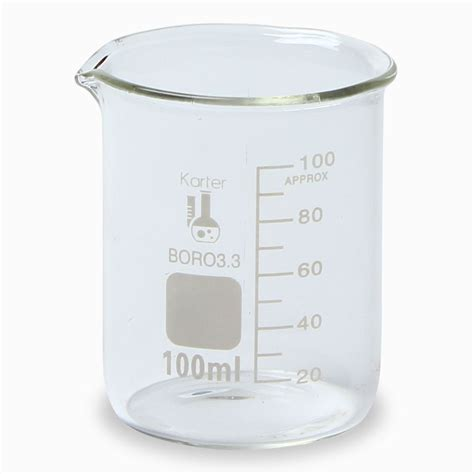 Beaker Glass 10 Ml scientific 100 ml low form graduated glass beaker