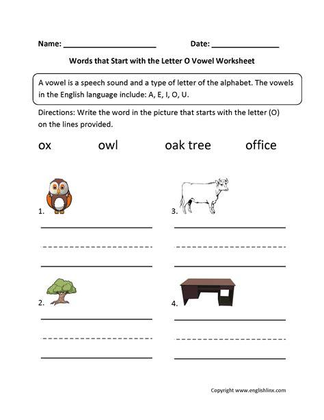 4 Letter Words Vowels vowel worksheets worksheets tutsstar thousands of