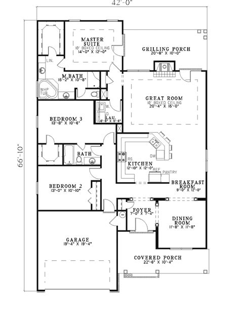Narrow Lot Ranch House Plans by Kingsbury Narrow Lot Home Plan 055d 0280 House Plans And