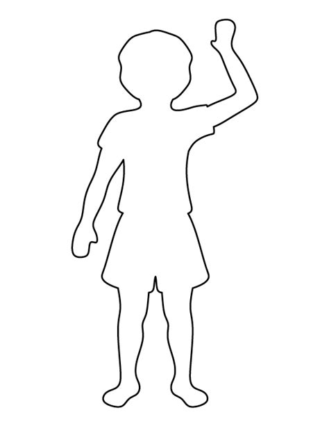templates for children child pattern use the printable outline for crafts