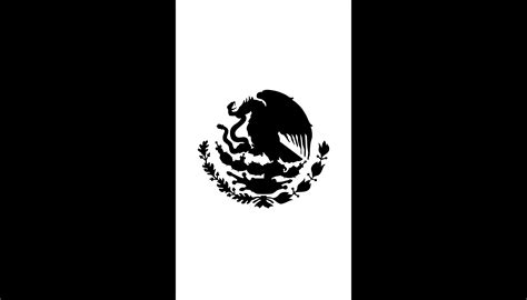 flag white black free mexican flag black and white free clip