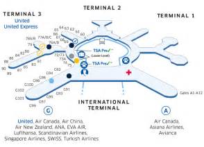 San Francisco International Airport Terminal Map by Sfo Airport Map United Airlines