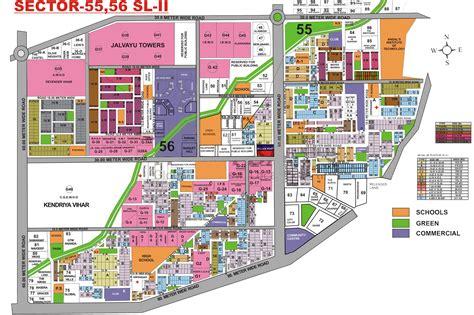 layout plan sector 52 gurgaon gurgaon sector maps gurgaon map gupta promoters
