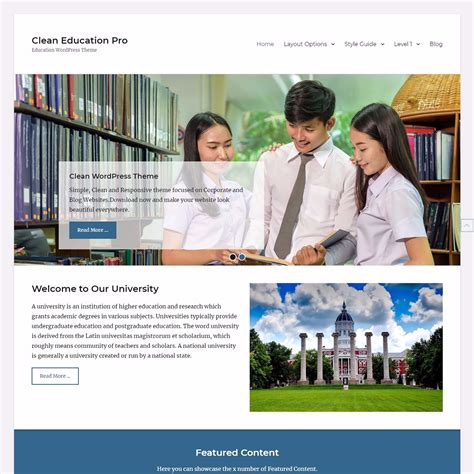 theme blogger education clean education wordpress themes themegrill blog