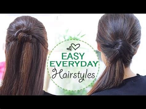 simple everyday hairstyles youtube easy everyday hairstyles youtube