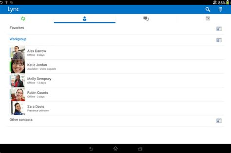 lync for android microsoft makes skype and lync more compatible adds lync