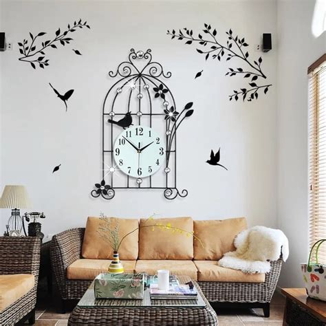 orologi da parete per soggiorno 3d grande orologio da parete design moderno casa
