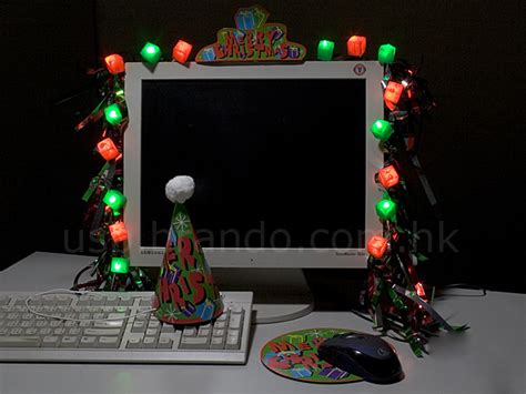 christmas decorations on the computer usb decoration kit