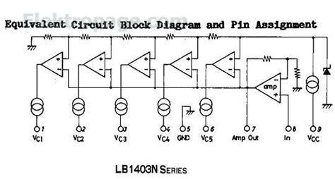 Ic Lb1403 lb1403 pinout connection diagram integrated circuits elektropage