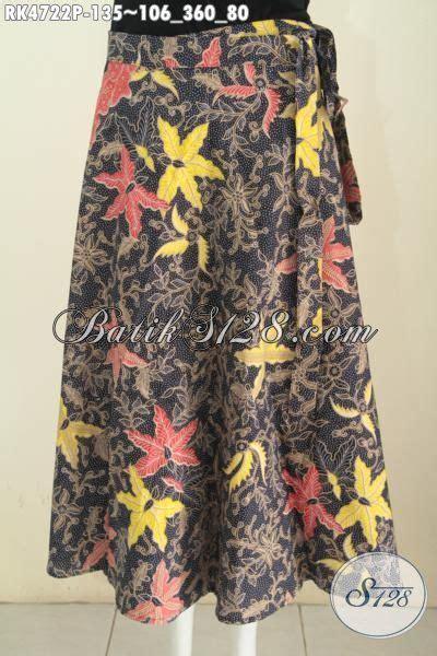 Rok Lilit Batik Kombinasi Tulis Ts1 produk busana batik terbaru model rok lilit bawahan batik