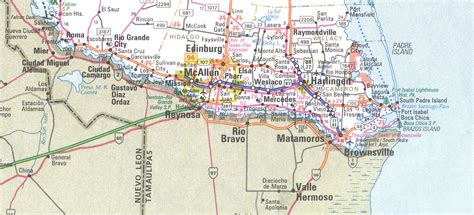 the valley texas map the grande valley texas map