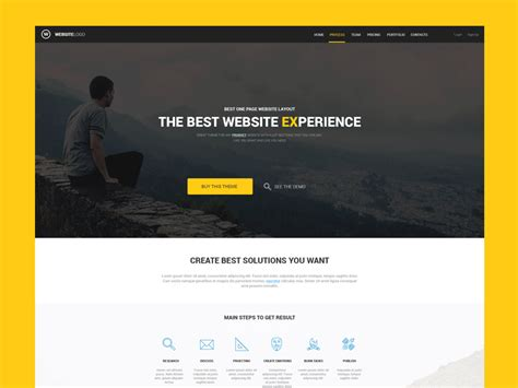 One Page Website Template For Product By Roman Kryzhanovskyi Dribbble Dribbble Website Templates