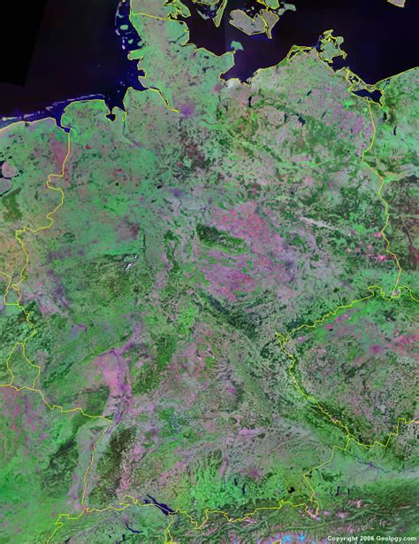 germany satellite map germany map and satellite image