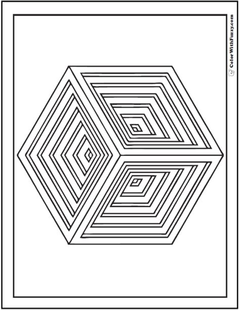 3d coloring pages shape coloring pages customize and print