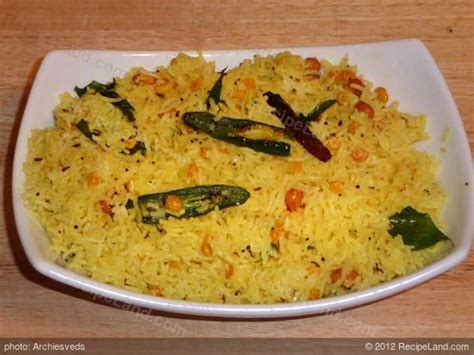 Indian Style Lemon Rice (Nimakaya Pulihora) Recipe Lemon Rice Recipe South Indian Style