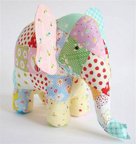 Patchwork Animal Patterns - elephant sewing pattern memory bears