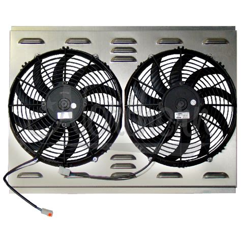 electric radiator fans and shrouds northern factory dual 12 quot electric fan shroud 17 1 2