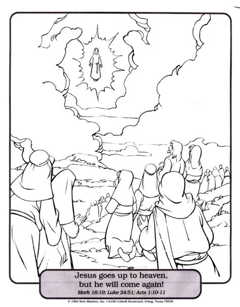 coloring pages jesus going to heaven ascension of jesus coloring page az coloring pages free