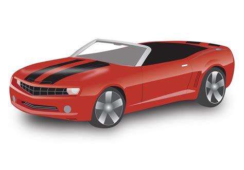 cartoon convertible car chevy camaro convertible download free vector art stock