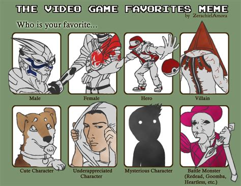 Video Meme - video game favorites meme by lyonface on deviantart