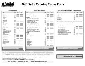 catering order form template free template free catering order form food order templates