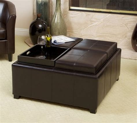 Top 8 Modern Leather Ottomans With Storage   Cute Furniture
