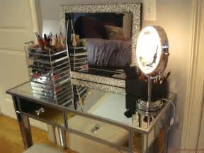Vanity With Chair And Lights Makeup Vanity Table With Lights Homesfeed