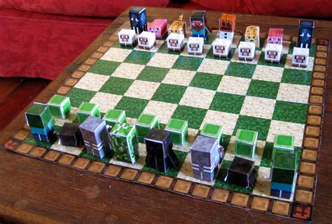 Minecraft Papercraft Chess - file papercraft minecraft 9579585285 jpg wikimedia commons
