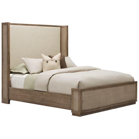 shelter bed city furniture mirabelle light tone upholstered shelter bed