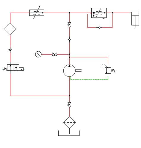 completing the hydraulic drawing