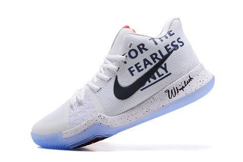 only shoes nike kyrie 3 for the fearless only white black shoes