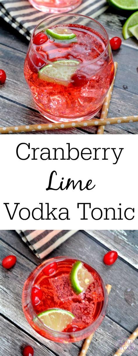 Cranberry Lime Vodka Tonic My Suburban Kitchen Recipes