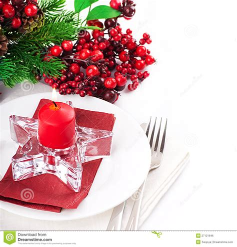 christmas table layout royalty free stock image image