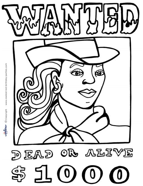 Free Coloring Pages Of Wild West West Coloring Pages