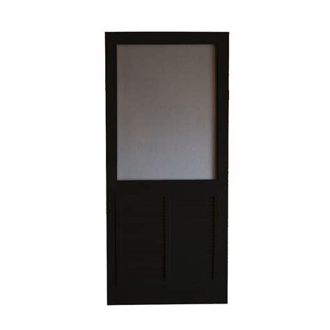 Black Screen Door by Shop Screen Tight Ponderosa Black Wood Screen Door Common